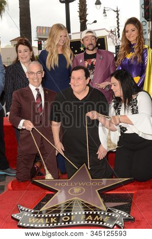LOS ANGELES - JAN 9:  Nancy O'Dell, Kevin Smith, Maria Menounos, Burt Ward at the Burt Ward Star Ceremony on the Hollywood Walk of Fame on JANUARY 9, 2020 in Los Angeles, CA