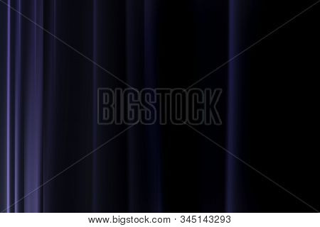 Dark Blackout Curtains Close The Window In The Room