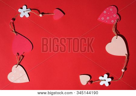 Colorful Valentines Day Paper Background With Heart