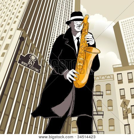 saxophonist in New York