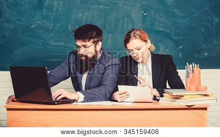 Apply To Enter High School. Selection Committee Concept. Teacher Principal Decide Who Will Enter Pri