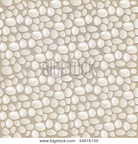 Seamless Gray Pebble Pattern