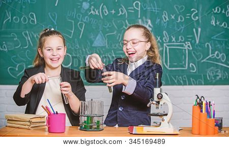 Science Experiments In Laboratory. Biology Lab. Happy Genius. Chemistry Research In Laboratory. Litt