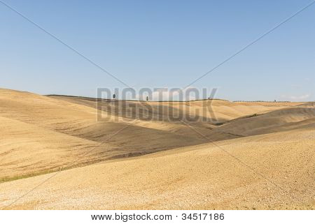 Landscape in Val d'Orcia, Tuscany