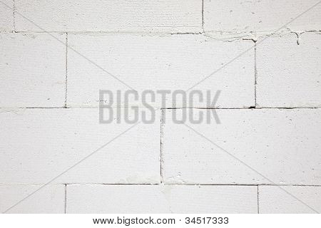 a wall - built of gas concrete poster