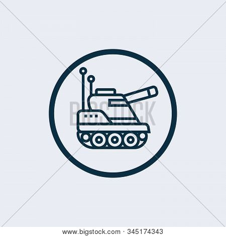Tank Icon Isolated On White Background. Tank Icon Simple Sign. Tank Icon Trendy And Modern Symbol Fo