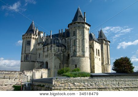 Castle of Samur over Loire