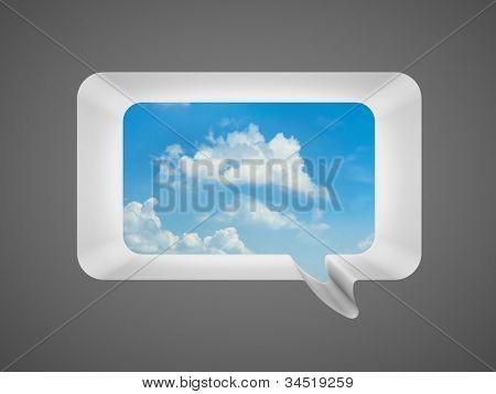 Speech bubble as window