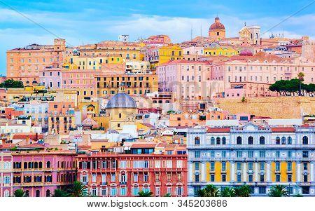 Cityscape Of Old Sardenian City In Cagliari Reflex