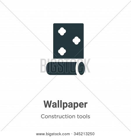 Wallpaper icon isolated on white background from construction tools collection. Wallpaper icon trend