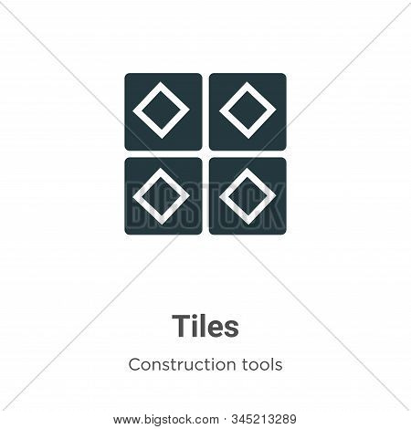 Tiles icon isolated on white background from construction tools collection. Tiles icon trendy and mo