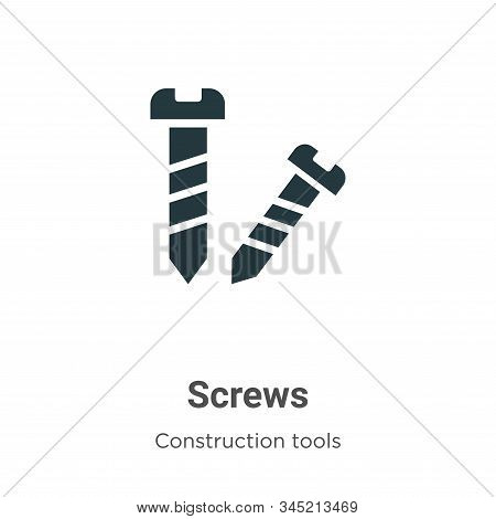Screws icon isolated on white background from construction tools collection. Screws icon trendy and