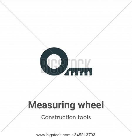 Measuring wheel icon isolated on white background from construction collection. Measuring wheel icon