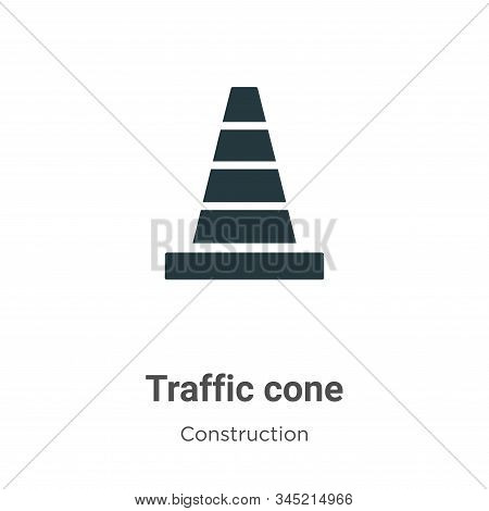 Traffic cone icon isolated on white background from tools collection. Traffic cone icon trendy and m