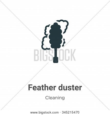 Feather duster icon isolated on white background from cleaning collection. Feather duster icon trend