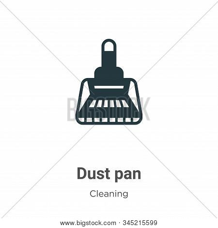 Dust pan icon isolated on white background from cleaning collection. Dust pan icon trendy and modern