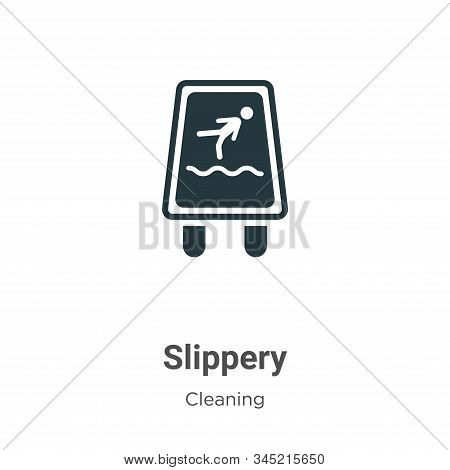 Slippery icon isolated on white background from cleaning collection. Slippery icon trendy and modern