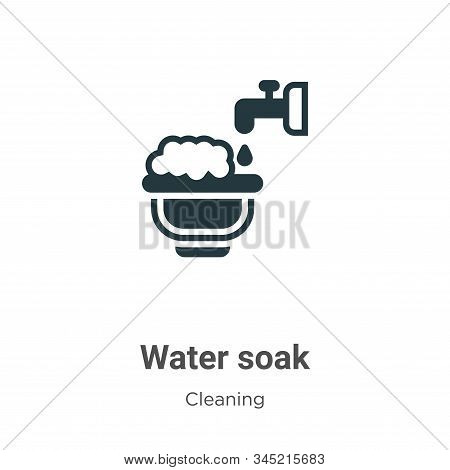 Water soak icon isolated on white background from cleaning collection. Water soak icon trendy and mo