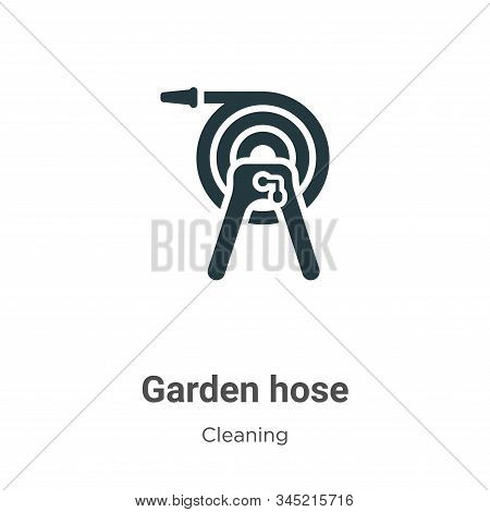 Garden hose icon isolated on white background from cleaning collection. Garden hose icon trendy and
