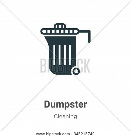 Dumpster icon isolated on white background from cleaning collection. Dumpster icon trendy and modern