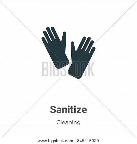 Sanitize icon isolated on white background from cleaning collection. Sanitize icon trendy and modern