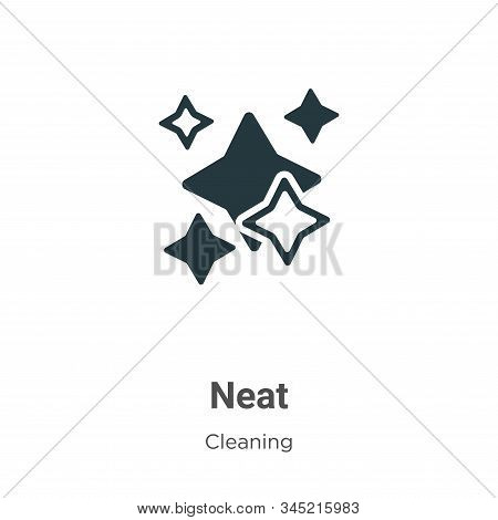 Neat Vector Icon On White Background. Flat Vector Neat Icon Symbol Sign From Modern Cleaning Collect