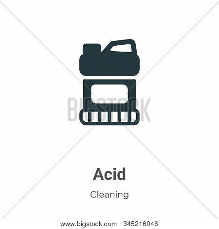 Acid icon isolated on white background from cleaning collection. Acid icon trendy and modern Acid sy