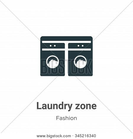 Laundry zone icon isolated on white background from fashion collection. Laundry zone icon trendy and