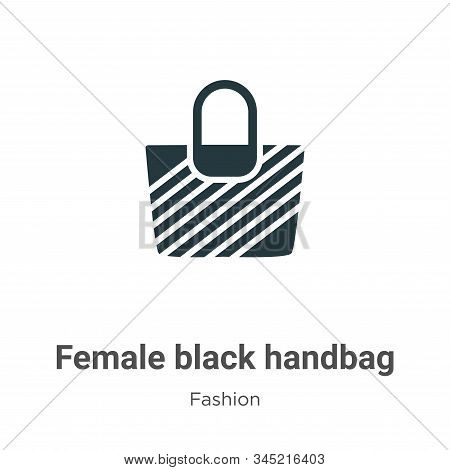 Female black handbag icon isolated on white background from fashion collection. Female black handbag