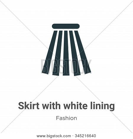 Skirt with white lining icon isolated on white background from fashion collection. Skirt with white