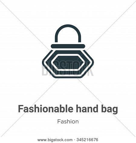 Fashionable hand bag icon isolated on white background from fashion collection. Fashionable hand bag