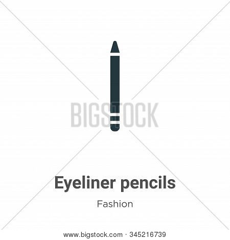 Eyeliner pencils icon isolated on white background from fashion collection. Eyeliner pencils icon tr