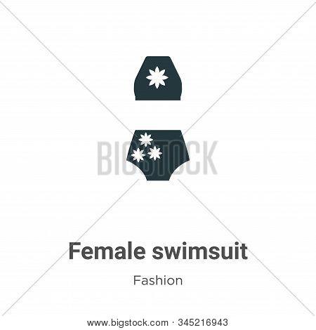 Female swimsuit icon isolated on white background from fashion collection. Female swimsuit icon tren