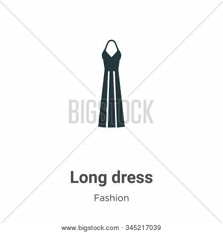 Long dress icon isolated on white background from fashion collection. Long dress icon trendy and mod