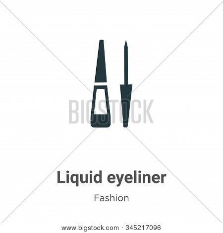 Liquid eyeliner icon isolated on white background from fashion collection. Liquid eyeliner icon tren