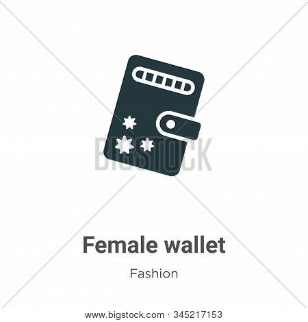 Female wallet icon isolated on white background from fashion collection. Female wallet icon trendy a