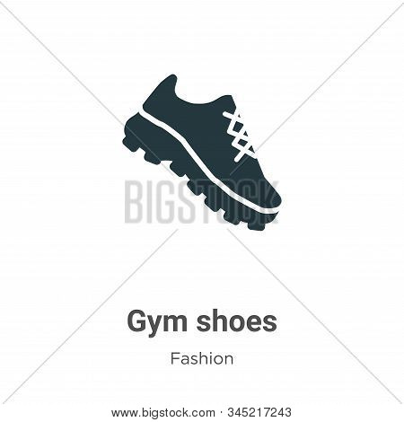 Gym shoes icon isolated on white background from fashion collection. Gym shoes icon trendy and moder