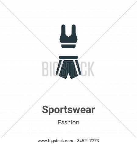 Sportswear icon isolated on white background from fashion collection. Sportswear icon trendy and mod