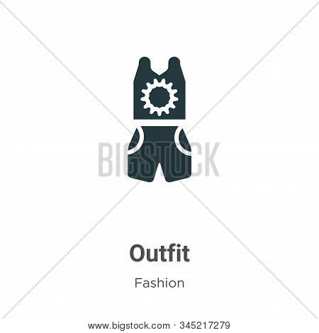 Outfit icon isolated on white background from fashion collection. Outfit icon trendy and modern Outf