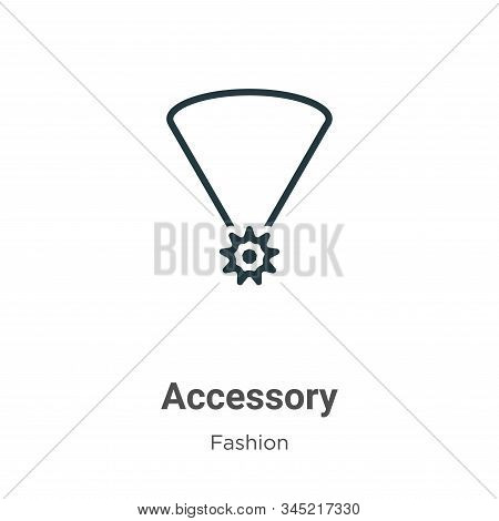Accessory icon isolated on white background from fashion collection. Accessory icon trendy and moder