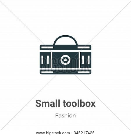 Small Toolbox Vector Icon On White Background. Flat Vector Small Toolbox Icon Symbol Sign From Moder