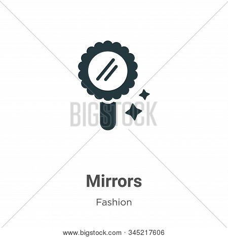 Mirrors Vector Icon On White Background. Flat Vector Mirrors Icon Symbol Sign From Modern Fashion Co