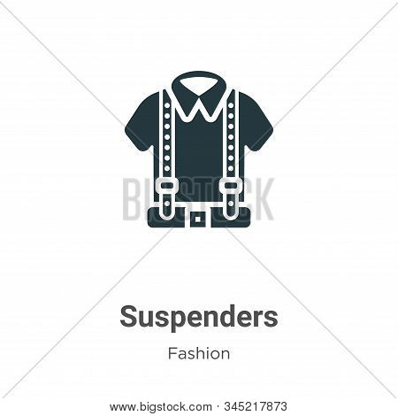 Suspenders icon isolated on white background from fashion collection. Suspenders icon trendy and mod