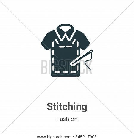 Stitching Vector Icon On White Background. Flat Vector Stitching Icon Symbol Sign From Modern Fashio