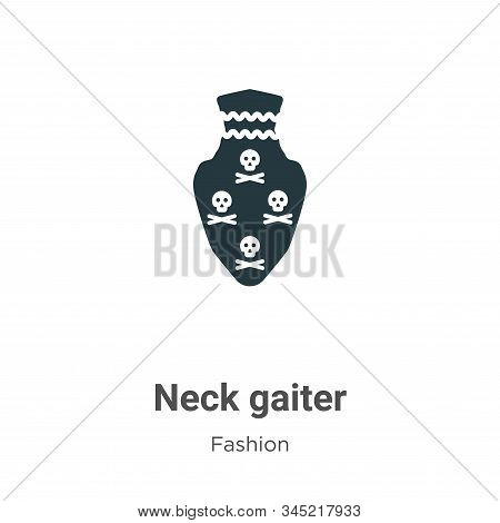 Neck gaiter icon isolated on white background from fashion collection. Neck gaiter icon trendy and m