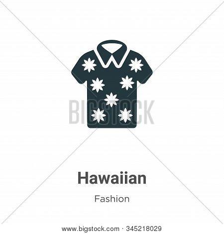 Hawaiian Vector Icon On White Background. Flat Vector Hawaiian Icon Symbol Sign From Modern Fashion