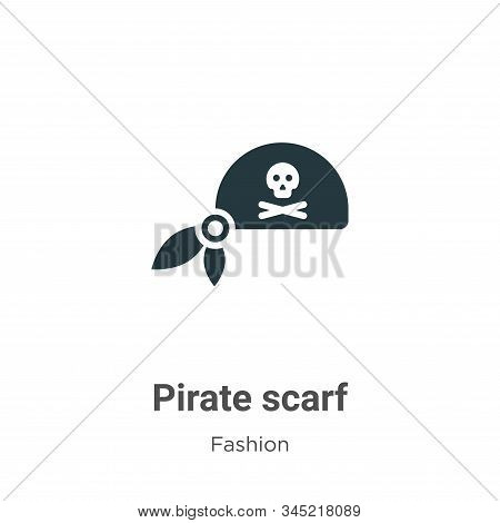 Pirate Scarf Vector Icon On White Background. Flat Vector Pirate Scarf Icon Symbol Sign From Modern