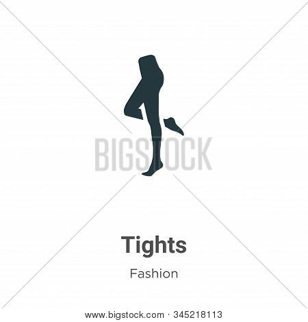 Tights icon isolated on white background from fashion collection. Tights icon trendy and modern Tigh