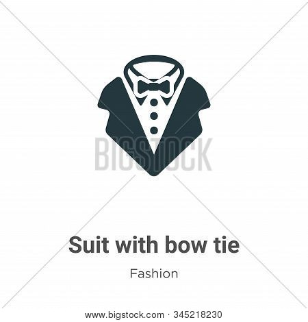Suit with bow tie icon isolated on white background from fashion collection. Suit with bow tie icon