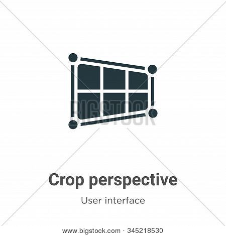 Crop perspective icon isolated on white background from user interface collection. Crop perspective